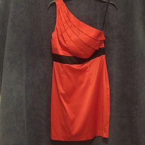 B Wear too Coral  one shoulder dress size 9